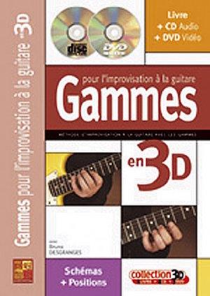 Gammes pour l'improvisation à la guitare en 3D